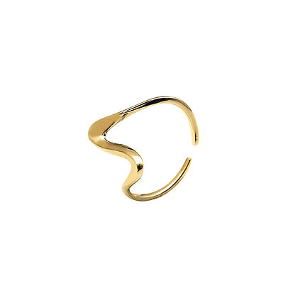 S925 Adjustable Wave Ring