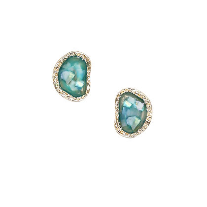 Opal Colour Stud Earring- S925 Post
