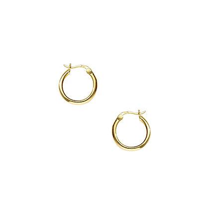 S925 8mm Round Tube Hoop Earrings