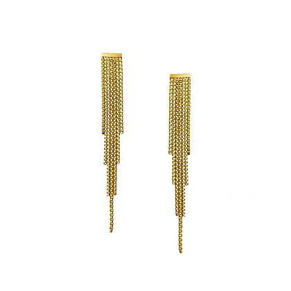 18k Gold Plated- Tassel Earrings- S925 Post