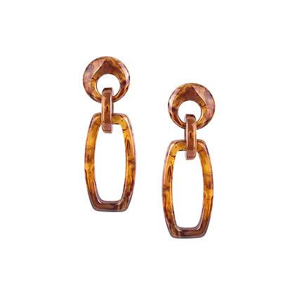 Drop Earrings in Resin with Open Link