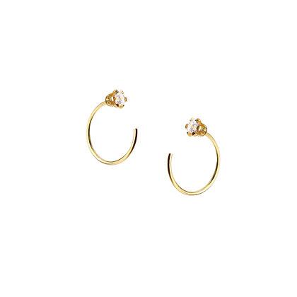 S925 Mini C Hoop  Earrings