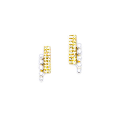 Double Bar Peal Studs- S925 Post