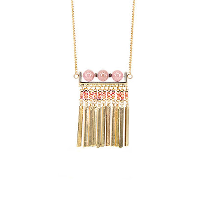 Delicate Gold Tassel Statement Necklace