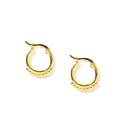 S925 Dotted Huge Hoops