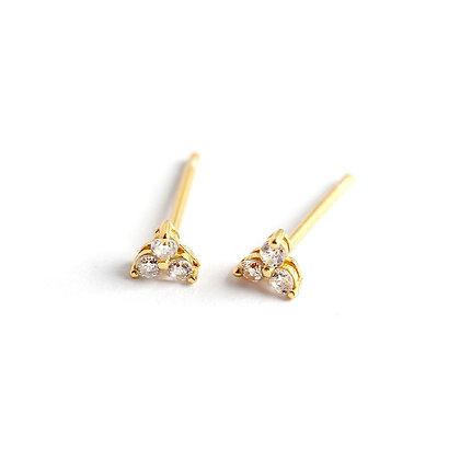 S925 Three Leaf Earrings