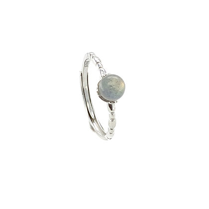 S925 Moonstone Adjustable Ring