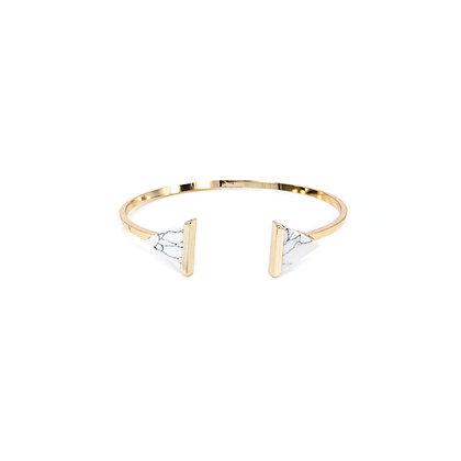 Minimalist Duo Triangular Marble Bracelet