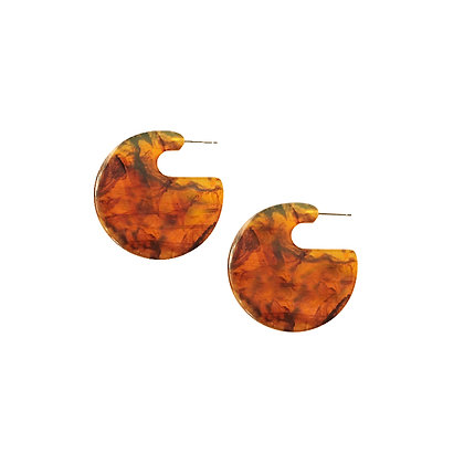 Glamorous Resin Disc Earrings