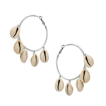Cowrie Shell HoopEarrings