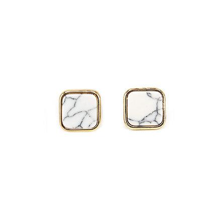 Square Marble Earrings