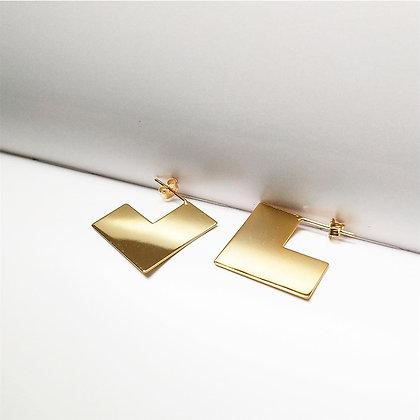 S925 Square Stud Earrings