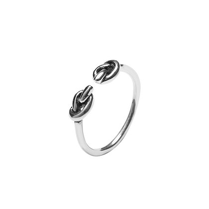 S925 Open Double Knot Ring
