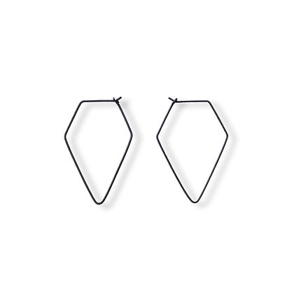 Pentagon Wire Earrings