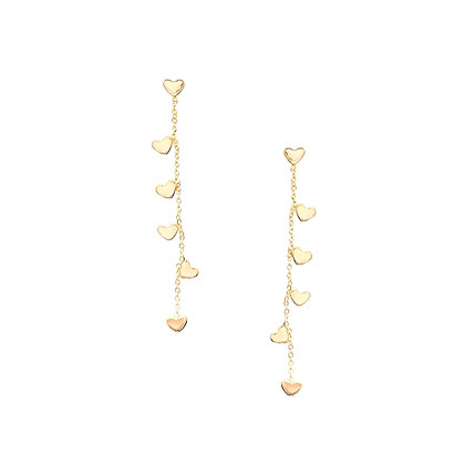 Drop Heart Earrings-S925Post