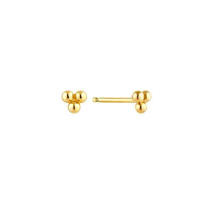 S925 Mini Three Dot Stud Earrings