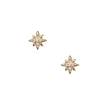 S925 Small CZ Star Earrings