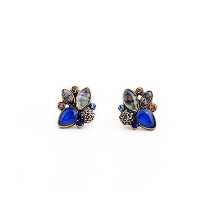 Sparkly Blue Statement Earrings
