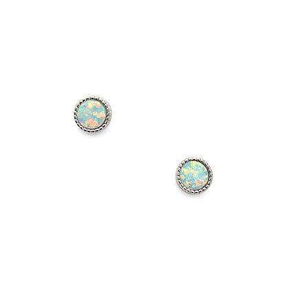 S925 Faux Opal Studs