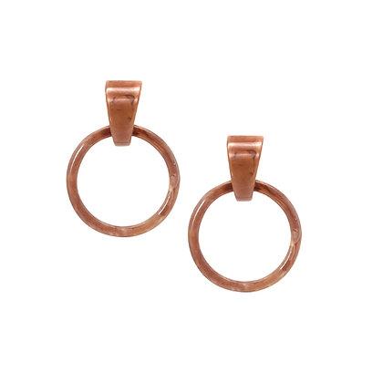 Open Rectangle Resin Hook Earrings