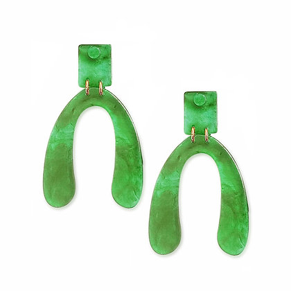 Horseshoe ResinStud Earrings