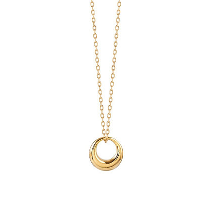 S925 Open Circle Necklace