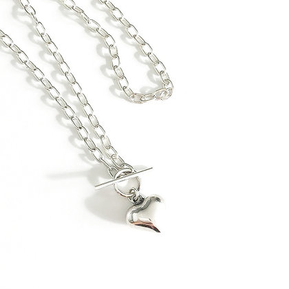 S925 Heart Chain Necklace