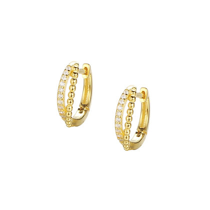 S925 CZ Twist Mini Hoop Earring