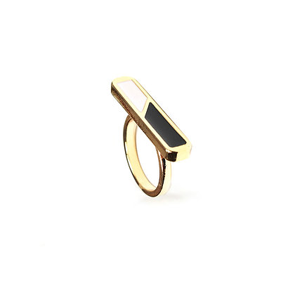 Black & White Bar Ring