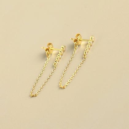 S925 Bar Chain Earring