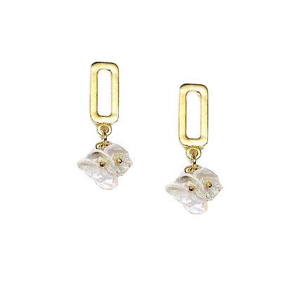 Dangle Pearl Drop Earrings- S925 Post