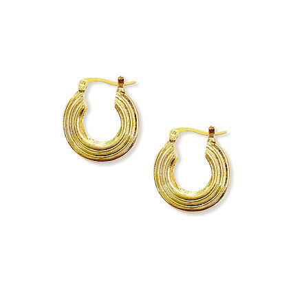 Layered 20mm Gold Hoops