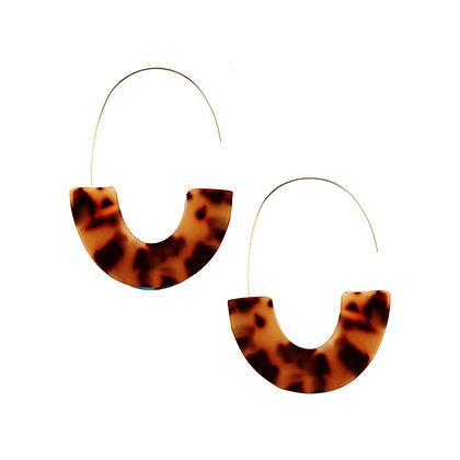 Resin Hoop Earrings in Gold