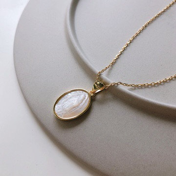 S925 Mother of Pearl -Angel Baby Pendant
