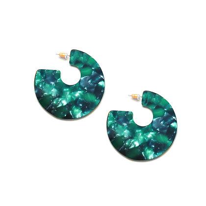 Resin Disc Earrings