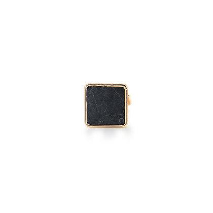 Black Marble Ring