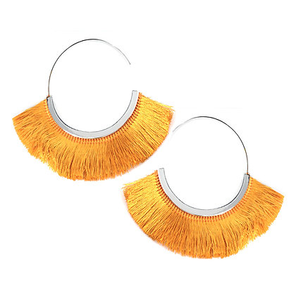 XXL-Hoop Tassel Earrings