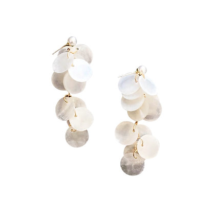 Bridal Shell Drop Earring- S925 Post