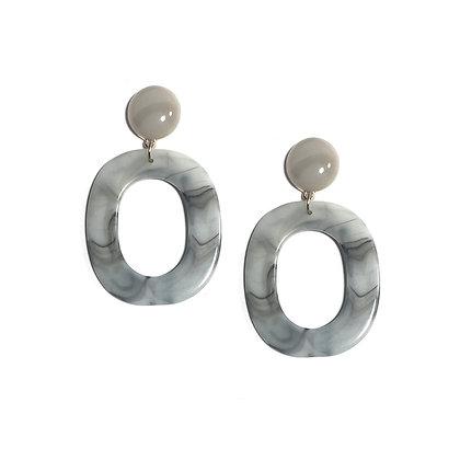 Oval Drop Studs Earring