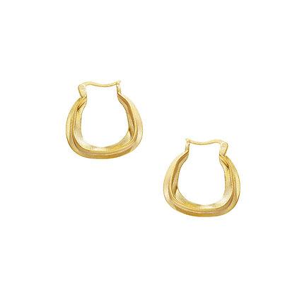 S925 Organic Hoop Earring
