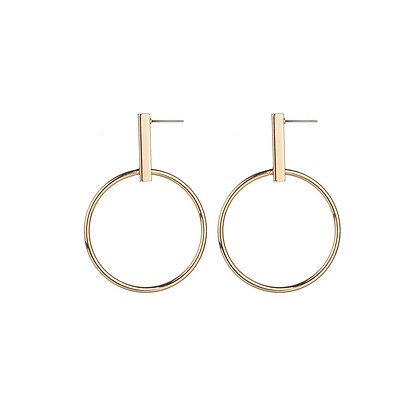 Simplistic Open Circle Drop Earrings