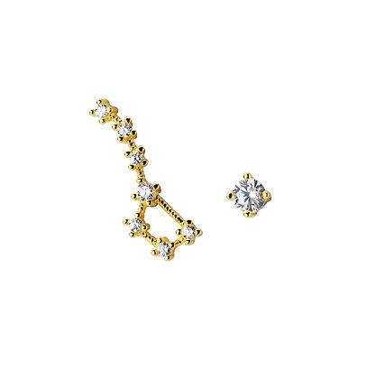 S925 CZ North Star  Earrings