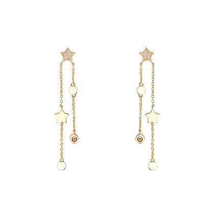 Drop Star Earrings - S925 Post