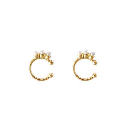 S925 Mini Pearl Cuff Earrings
