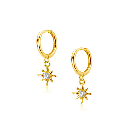 S925 CZ Star Drop Earrings
