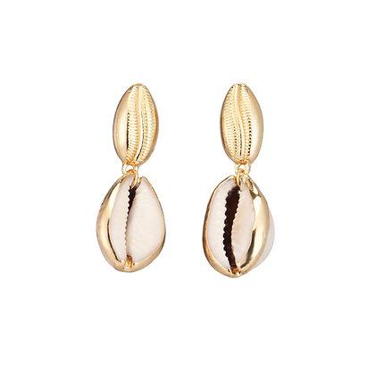 Large Cowrie Shell Hook Earrings
