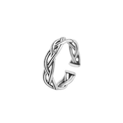 Sterling Silver Braided Ring (Thin Band)