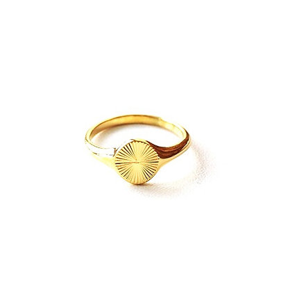 316L Stainless Steel Gold Shadow ring