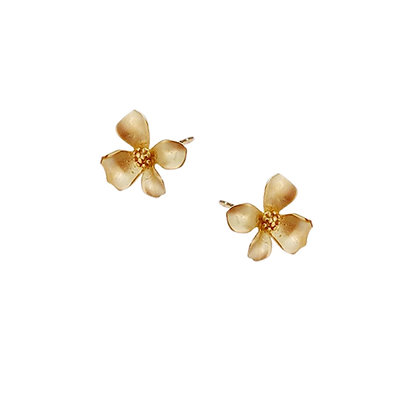 S925  Frangipani Stud Earrings
