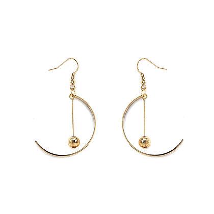 Half Moon Drop Pendant Earrings